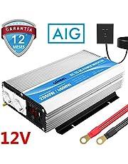 GIANDEL Inversor de Corriente 2000W Convertidor 12V a 220V 230V con Mando a Distancia & Pantalla LED & Salidas de AC duales para RV Truck Car