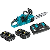 """Makita XCU03PT1 18V X2 (36V) LXT Lithium-Ion Brushless Cordless 14"""" Chain Saw Kit with 4 Batteries (5.0Ah)"""