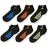 adidas Boy's Vertical Stripe Low Cut Socks (Pack of 6)