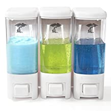Shampoo and Soap Dispensers by ToiletTree Products. Backed with a 2 year replacement warranty. (3, White)