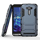 DWay ASUS ZE551KL Case Armor Hybrid Design with Stand Feature 2 In 1 Combo Dual Layer Detachable Protective Shell Phone Hard Back Case Cover for ASUS ZenFone 2 Laser (ZE550KL/ZE551KL) 5.5inches (Black Plus Gray)