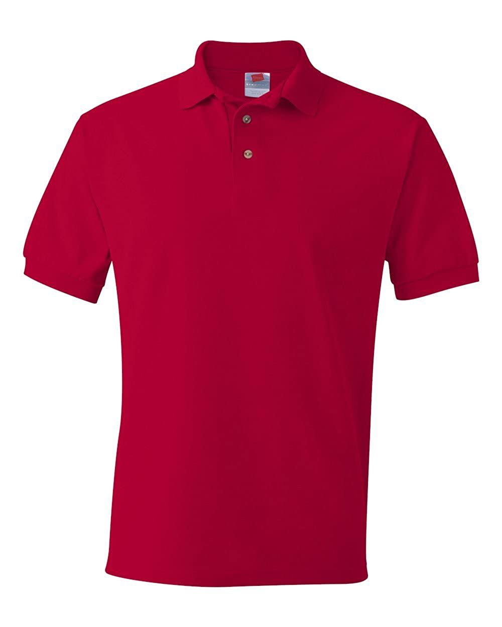 Rouge - Rouge Profond 3XL Hanes Tagless Polo Manches Courtes Organique Periodic pour Homme Hommes