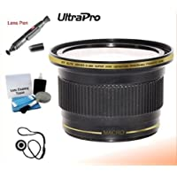 UltraPro 37mm 0.38x High Definition Fisheye Lens with Macro Attachment For The Sony DCR-SX85, SX65, HDR-CX160, CX130 Digital Camcorders. Includes 0.38x High Definition Fisheye Lens with Macro Attachment, Lens Pen Cleaner, Cap Keeper, UltraPro Deluxe Cleaning Kit