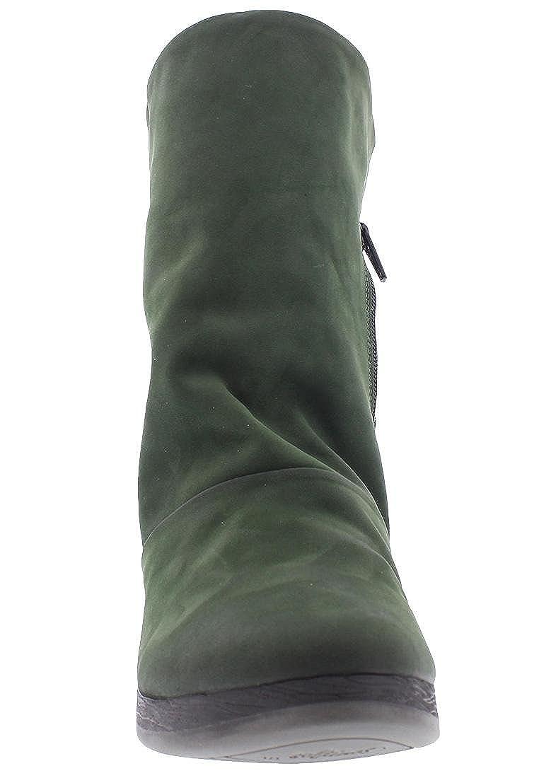 Softinos Stiefelette ANN417SOF Nobuck Nobuck Nobuck Leather HW17, Größe 40, Farbe Grün d035d6