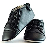 Tickle Toes Black Matte Boys Shoes with Lace