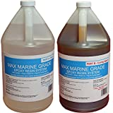 MAX MARINE GRADE Epoxy Resin System - 2 Gallon Kit - Wood Sealing, High Strength Fiberglassing Marine Applications, Composite Fabricating Resin