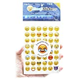 Emoji Stickers 20 Sheets Include the Most Popular and Common Emojis Icons Faces Symbols Package Kids Stickers for iPhone Android, 48pcs/sheet - Yellow