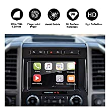 RUIYA 2015-2017 Ford F-150 COUPE/HATCHBACK, SYNC2 SYNC3 8-inch In-Dash Screen Protector, Car Navigation Screen Protective Film,HD Clear Tempered Glass,Compatible with 250V 350 450