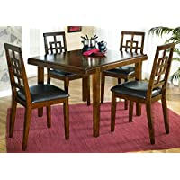 Ashley Furniture Signature Design - Cimeran Dining Room Table and Chairs Set - 1 Table and 4 Chairs - Set of 5 - Medium Brown