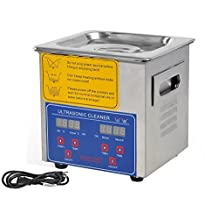 New Professional Stainless Steel 2l Ultrasonic Cleaner Heater Timer Bracket Jewelry,high Efficiency Cleaning for Professional and Personal or Home Use,jewelry Earrings, Necklace, Rings, Bracelets and Diamonds,metal Articles Ancient Coins