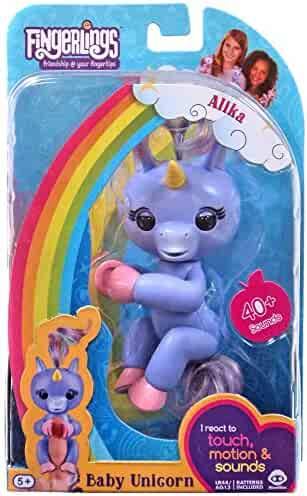 WowWee Fingerlings Baby Unicorn Purple Alika