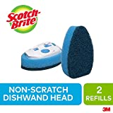 Scotch-Brite Dishwand Refill, 2 Pack, Multi-Purpose, Non Scratch, Replacement Dish Brush Head