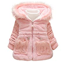 Leegor Baby Girls Kids Outwear Clothes Winter Jacket Coat Snowsuit Clothing