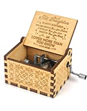 Music Box, Wooden Engraved Vintage Music Box, Pure Hand-Classical Creative Wooden Crafts, Best Gift and Toys for Birthday/Christmas