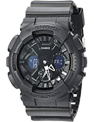 Casio Mens G-SHOCK Quartz Resin Casual Watch, Color:Black (Model: GA-120BB-1ACR)