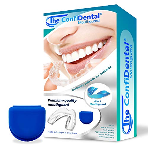 The ConfiDental - 2 Sizes, Pack of 4 Moldable Mouth Guard for Teeth Grinding Clenching Bruxism, Sport Athletic, Whitening Tray, Including 2 Regular and 2 Small Guard