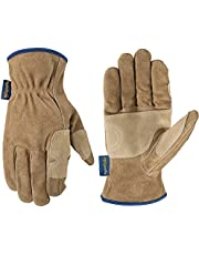 Wells Lamont Leather Fencer Work Gloves, HydraHyde, Suede Cowhide, Large (1019L)
