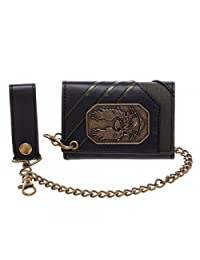 HALO UNSC Metal Badge With Chain Trifold Wallet