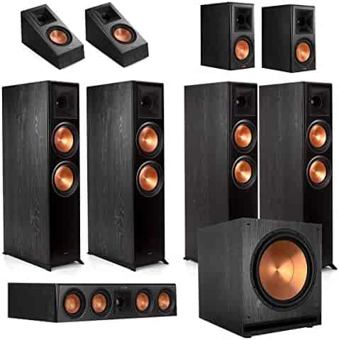 Klipsch RP-8060FA 7.1.4 Dolby Atmos Home Theater System - Ebony