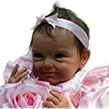 Fineser Adorable Baby Doll Collection 21.6 Inches Vinyl Silicone Babies Doll Newborn Real Baby Doll Cute Girl