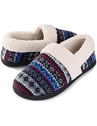 Women's Nordic Winter Fuzzy Knit Memory Foam Slipper