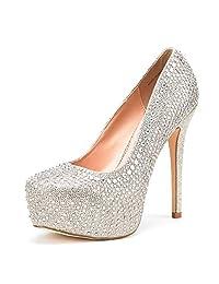 DREAM PAIRS Women's Swan-30 Heels Dress Shoes