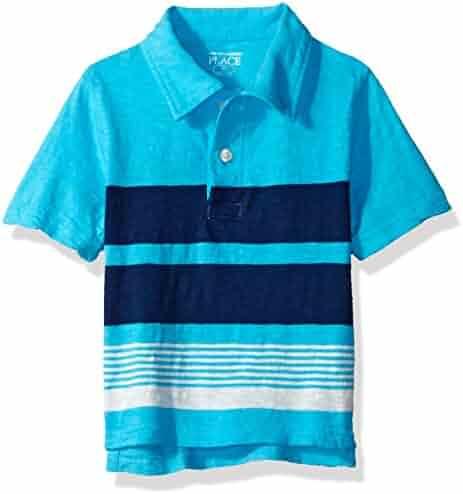The Children's Place Baby-Boys' His Li'l Short Sleeve Striped Polo Shirt