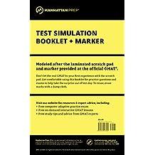 Manhattan GMAT Test Simulation Booklet w/ Marker