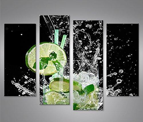 Mojito Drinks Cocktails 1P Bild auf Leinwand Wandbild Edel Poster Kunstdruck