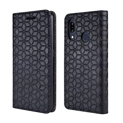 BLU Vivo Xi+ Case, [Kickstand] [Card Slot+Side Pocket] Premium Soft PU Color Matching Leather Wallet Cover Flip Case Protective Case for BLU Vivo Xi+ (Black)