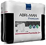 Abena Abri-Man Male Pouch Incontinence Shields, Formula 2, 168 Count (12 Packs of 14)