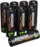 AmazonBasics AA High-Capacity Rechargeable Batteries (8-Pack) Pre-charged - Packaging May Vary