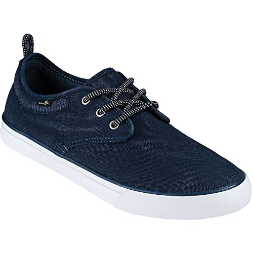 Sanuk Mens Guided Plus Washed Shoes Footwear, Navy Washed, Size 11