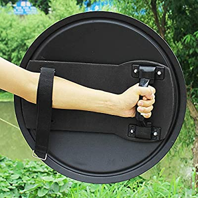SHIJIU SHIMENG Shield Police Cosplay Prop Real Size Round Aluminum Diameter 53cm: Toys & Games