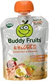 Buddy Fruits & Veggies 12 Pack Squeezable Fruit and Veggies Pouches - Apple Carrot and Orange