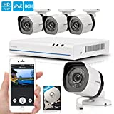 Zmodo 8 CH 4 Camera Outdoor Indoor High Definition NVR Home...