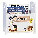 Personalized Pirate White Book Caddy Magazine Rack