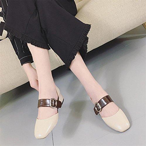 pengweiAu milieu avec un mot boucle chaussures de dames avec des sandales romaines rugueuses