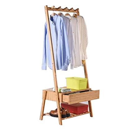 Amazon.com: ZEMIN Floor Standing Coat Rack Storage Clothes ...