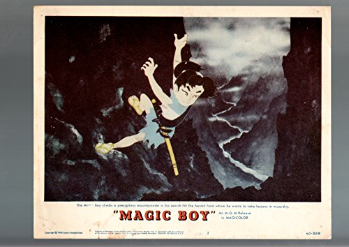 MOVIE POSTER: MAGIC BOY-#2-1960-HIROKO SAKURAMACHI-JAPANIMATION-ADVENTURE-LOBBY CARD VG