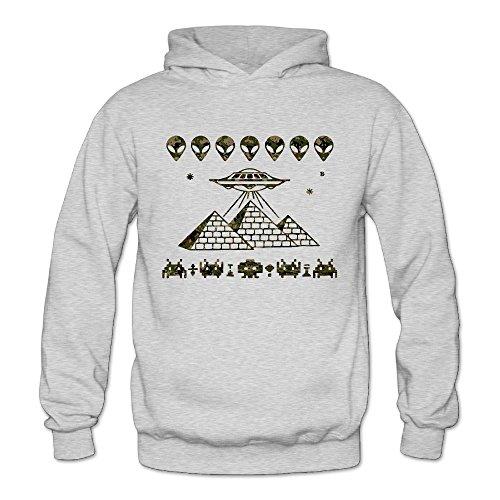 Camouflage Ufo Alien Pyramids Classic Women's Hooded Sweatshirts Ash M]()