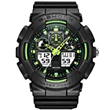 WGE Mens Boys Digital Watches 50M Electronic Waterproof Military Sports Watch Simple Fashion Design Led Divers Watch For, 1