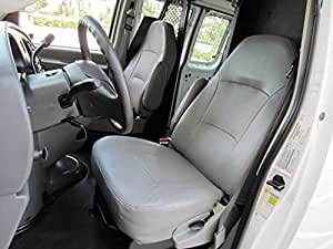grey Van seat covers comfort fit Vauxhall Movano leatherette black