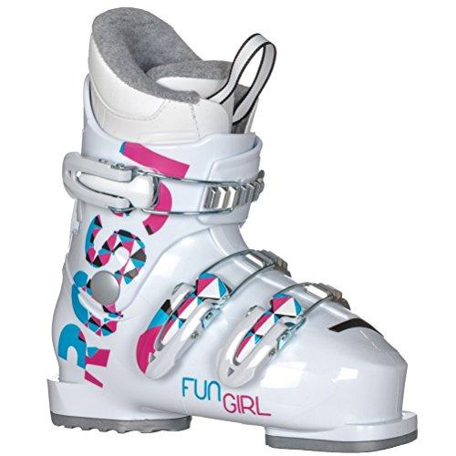 - Rossignol Fun Girl J3 Ski Boots White Girl's Sz 13K (19.5)