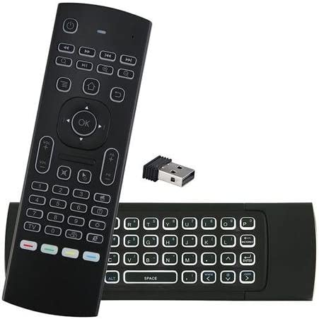 MX3 Wireless QWERTY White Backlit 2.4GHz Keyboard Air Mouse for TV Box Mini PC ILS