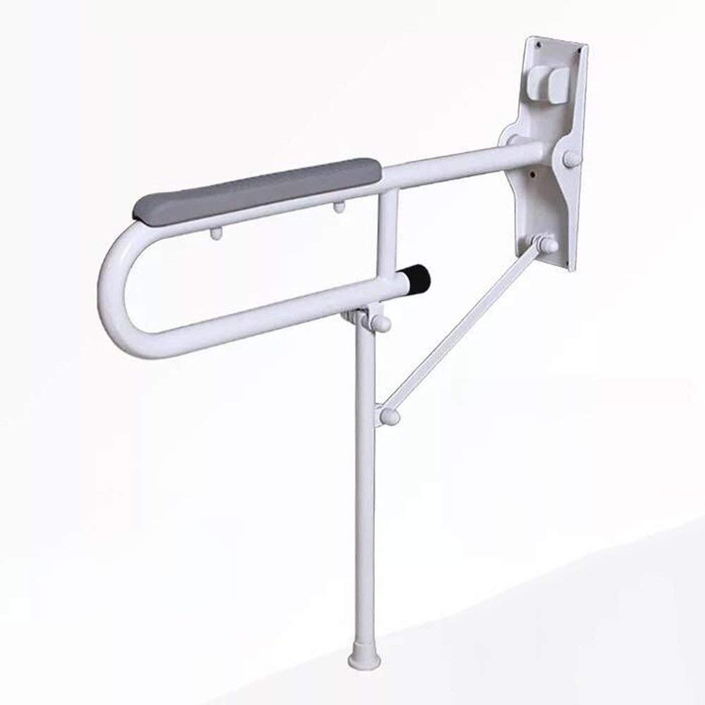 JYJgrab bar JYJ-Shower Wall-Mounted Toilet Handrails Bathroom Handrails Elderly Disabled Safety Support Grab Bar Bathroom Folding Grab Bar Balance Grab Bar (Color : Gray) by JYJgrab bar