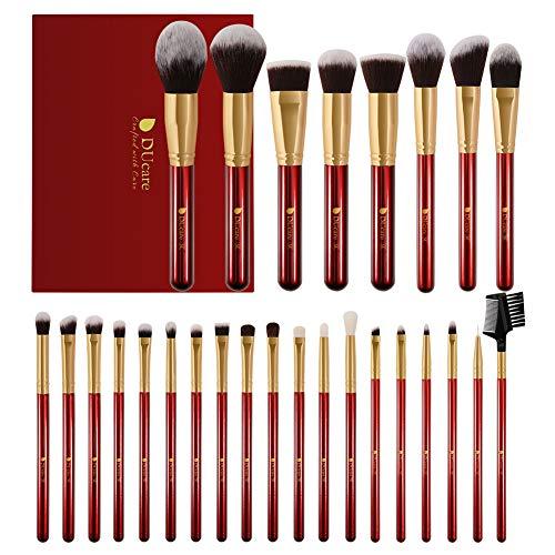 DUcare Makeup Brushes 27Pcs Professional Makeup Brush Set Christmas Gift Premium Synthetic Goat Pony Hair Kabuki…
