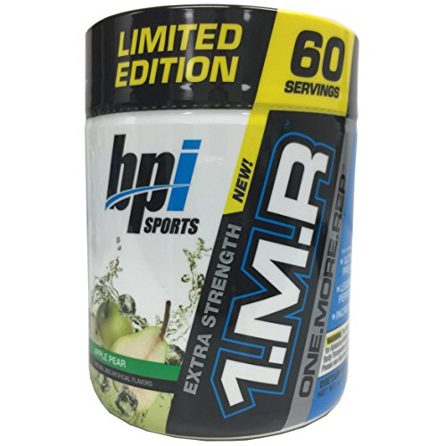 BPI Sports 1.M.R., One More Rep Ultra-Concentrated Pre-Workout Powder, Apple Pear, 60 servings