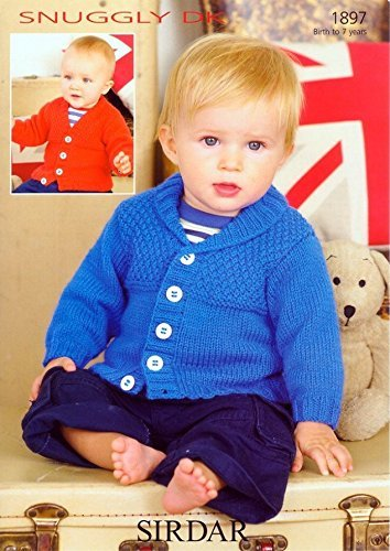 Sirdar Baby Cardigans Knitting Pattern 1897 DK by Sirdar by Sirdar