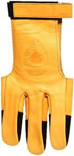 Old Tradition - Gant 3 Doigts en Cuir renforcé pour Le tir à l'Arc - Modèle Ambidextre - Taille XSmall.